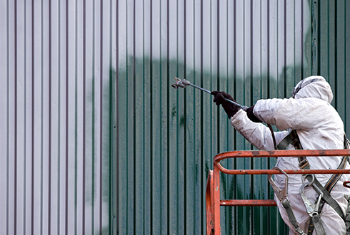 Commercial industrial painting services by RIOS Interiors Corp