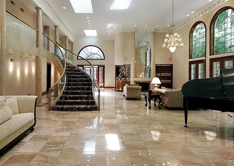 Marble Floor Restoration Services by RIOS Interiors Corp in New York