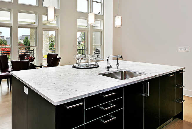 Marble polishing services by RIOS Interiors Corp in NYC